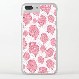 Portuguese Hearts Clear iPhone Case