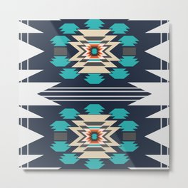 Double ethnic decor Metal Print