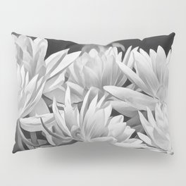 Water Lily in Black and White Pillow Sham