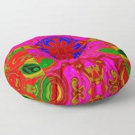 Faces, heads, and colors ... Floor Pillow