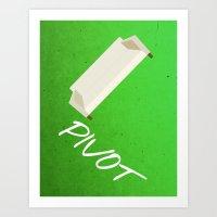 pivot Art Prints featuring Friends 20th - Pivot by Allison Hoover