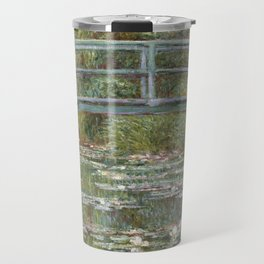 Water Lily Pond (Japanese Bridge) Travel Mug