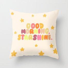 Good Morning, Starshine Throw Pillow
