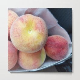 Farm picked Peaches Metal Print