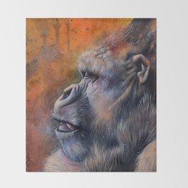 Gorilla: The Portrait of a Stolen Voice Throw Blanket