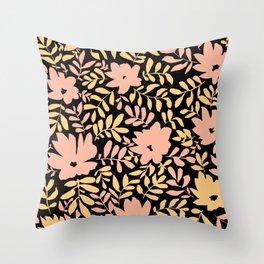 Flower Chains (Multi) Throw Pillow