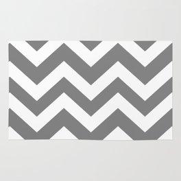 Gray (HTML/CSS gray) - grey color - Zigzag Chevron Pattern Rug