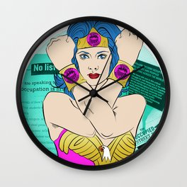 Occupy Wall Street POP ART Wall Clock