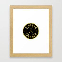 Lost Boy Badge Framed Art Print