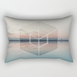 Tranquil Landscape Geometry Rectangular Pillow
