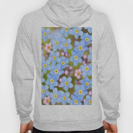 Forget-me-not flowers and buds - summer meadow Hoody