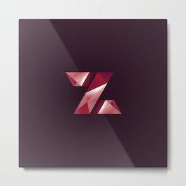 Alphabet letter polygon Z Metal Print