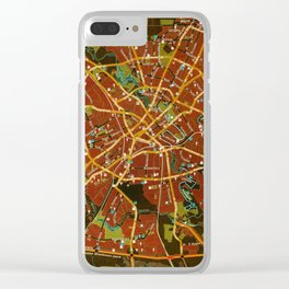 Minsk colorful map Clear iPhone Case