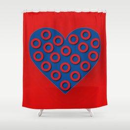 Fishman Donuts Heart Shower Curtain