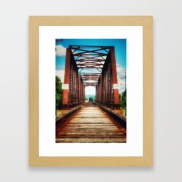 Upstate Bridge Framed Art Print