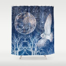 The Temple of the Full Moon Shower Curtain