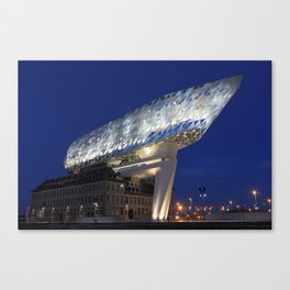 The Antwerp Port House | Zaha H A D I D | architect | Canvas Print