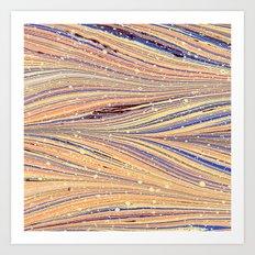 Marbled White Light Flow Art Print