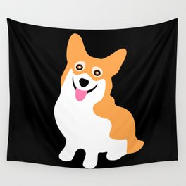 Cute Little Corgi Wall Tapestry