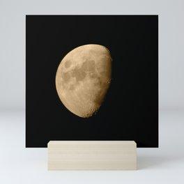 4K Dark Side of the Moon Golden Yellow Mini Art Print