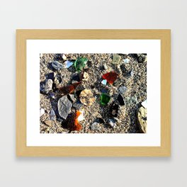Lady in the Sand Framed Art Print