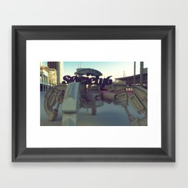 Society6 SAFE TRANSPORT Framed Art Print