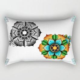 flower mandala Rectangular Pillow