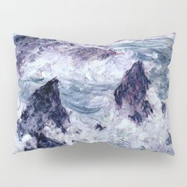 Monet : Storm At Belle Ile Pillow Sham