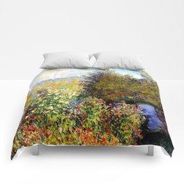 Claude Monet : A Corner of the Garden at Montgeron Comforters