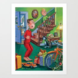 Santa Was Here! Art Print