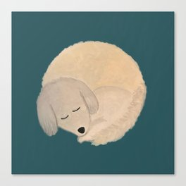 Dog Donut Canvas Print