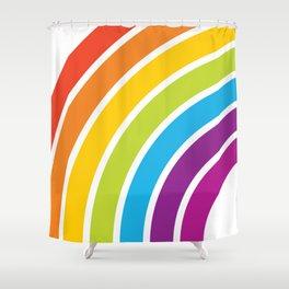 A Rainbow World Shower Curtain