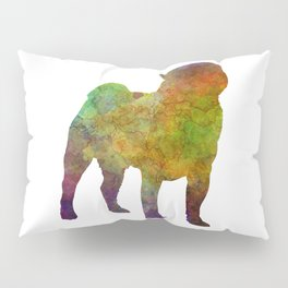 Pug 01 in watercolor Pillow Sham