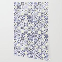 Flower Bell Azulejos Wallpaper