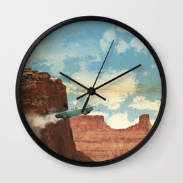 Thelma and Louise travel movie art Wall Clock