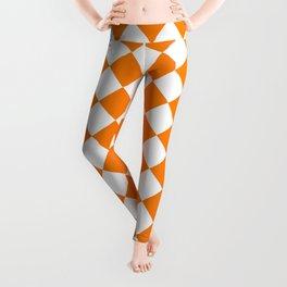 Diamonds - White and Orange Leggings