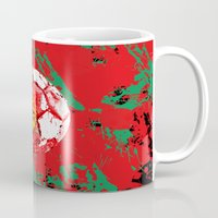 portugal Mugs featuring football Portugal  by seb mcnulty