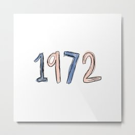 1972 - hand drawn art Metal Print