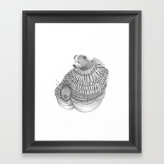 The Bear and the Bees- Feathered Framed Art Print