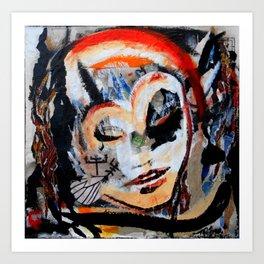 Verano - Vegan series - Original painting - Marina Taliera Art Print