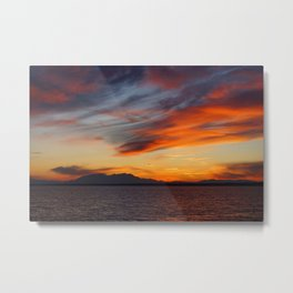 marvellous sunset over the sea Metal Print