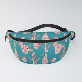 Mid Mod Cactus Teal Fanny Pack