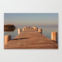 boardwalk empire Canvas Prints featuring boardwalk by Photoplace