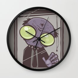 Office Zombie Wall Clock