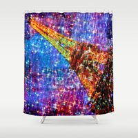 eiffel Shower Curtains featuring Eiffel by haroulita