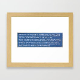 Stake Framed Art Print