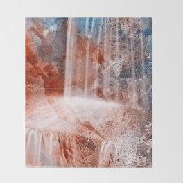 Acrylic Urbex Falls Throw Blanket