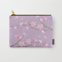 Cherry Blossom - Pale Purple Carry-All Pouch