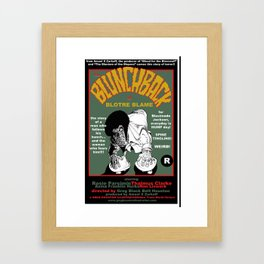 the Blunchbacl of Blotre Blame Framed Art Print
