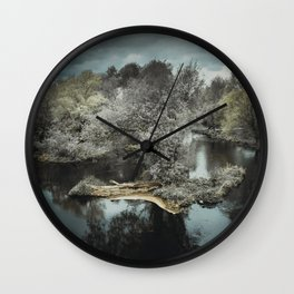 Clouds of Blue Wall Clock